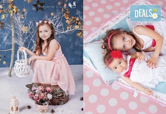 Детска и семейна студийна фотосесия с уникални декори, за деца от 10 месеца до 12 г., от Приказните снимки! - Снимка 8