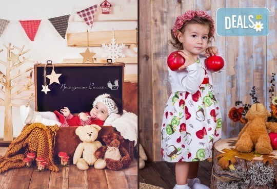 Детска и семейна студийна фотосесия с уникални декори, за деца от 10 месеца до 12 г., от Приказните снимки! - Снимка 15