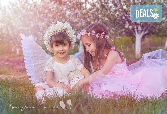 Пролетна детска фотосесия на открито с 20 обработени кадъра от Приказните снимки! - Снимка 11