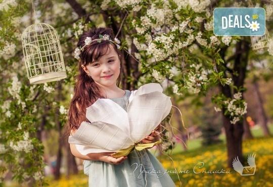 Пролетна детска фотосесия на открито с 20 обработени кадъра от Приказните снимки! - Снимка 3