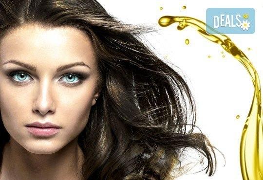 Нежна грижа за чиста и красива коса! Масажно измиване, подстригване или арганова терапия от стилист Люси в салон Солей! - Снимка 1