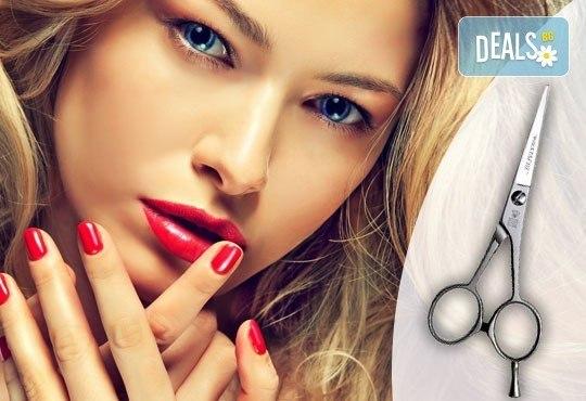 Перфектна визия! Подстригване, масажно измиване, маска, оформяне със сешоар и маникюр с лакове OPI от салон Мелинда! - Снимка 1