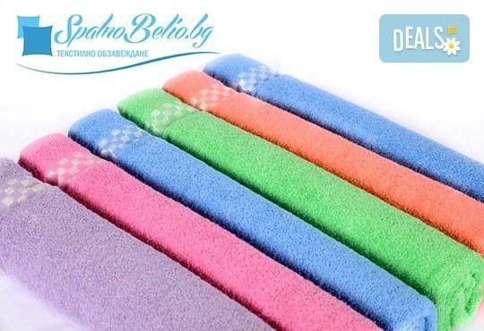 Нежна прегръдка с мека хавлиена кърпа за баня или плаж, размер 100/150 см, цвят по избор от SPALNOBELIO.BG! - Снимка 2