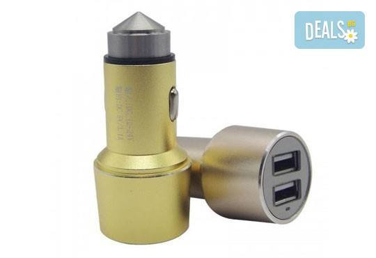 Дръжте необходимия аксесоар наблизо! Висококачествено алуминиево зарядно за автомобил и кабел за Apple или Android от Деоро! - Снимка 3
