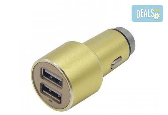 Дръжте необходимия аксесоар наблизо! Висококачествено алуминиево зарядно за автомобил и кабел за Apple или Android от Деоро! - Снимка 2
