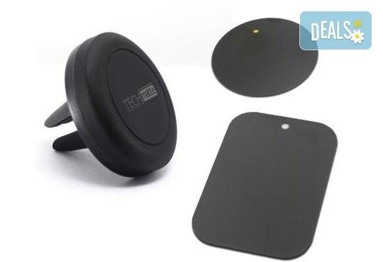 Висококачествена магнитна стойка за мобилни телефони със закачване към въздуховодите на колата от Деоро! - Снимка 2