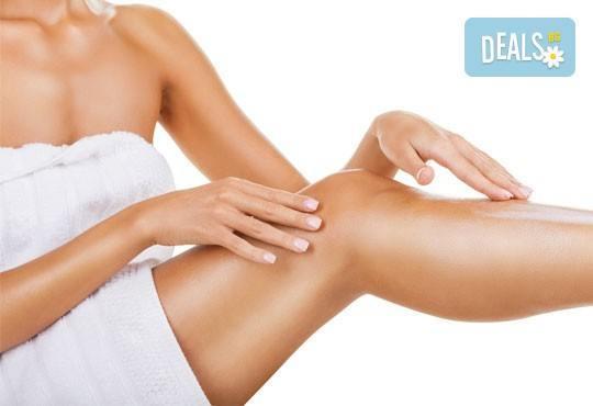 Стройна фигура! Антицелулитен масаж с вендузи, лимфен дренаж, третиране на кожата с антицелулитни масла от студио Be Happy! - Снимка 2
