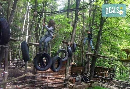 45-минутно забавление на въжена градина Паяжината в развлекателен парк Бонго-Бонго за Вас и Вашето дете, Драгалевци! - Снимка 1