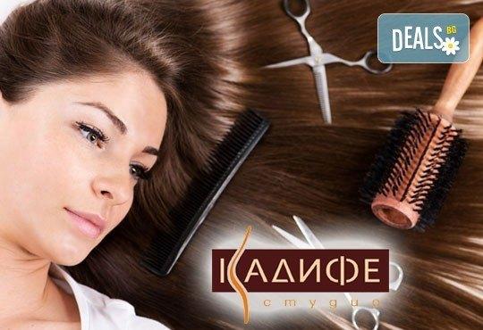 Време е за нова прическа! Подстригване и изсушаване на коса, бонус прическа с плитка от СПА студио Кадифе! - Снимка 1