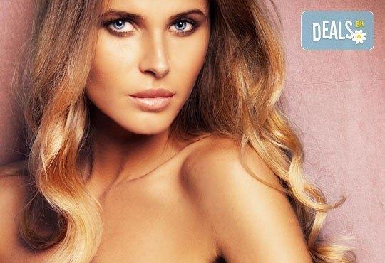 Комплексна грижа! Боядисване на коса: бaлеaж, омбре или кичури, мaсaжно измивaне, сешоaр и клaсически СПА мaникюр в салон Идиан! - Снимка 1