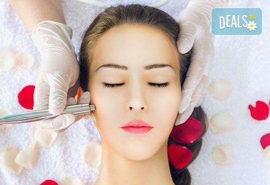 Освежаваща терапия за блестящ вид с диамантено микродермабразио, ултразвук и козметичен масаж от Салон за красота Мелани - Снимка 2