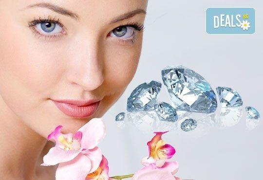Освежаваща терапия за блестящ вид с диамантено микродермабразио, ултразвук и козметичен масаж от Салон за красота Мелани - Снимка 1
