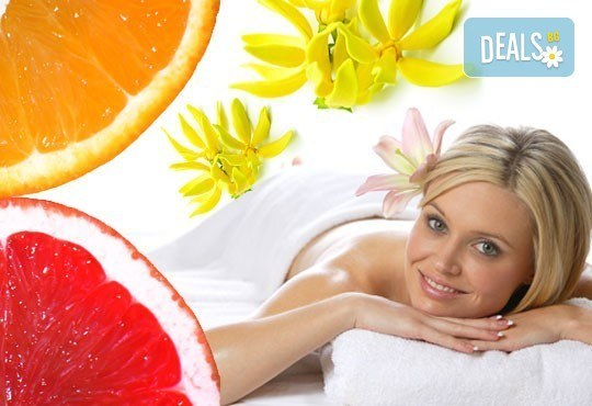 Терапия срещу пролетна умора! 60-минутен класически масаж на цяло тяло с масла от портокал, грейпфрут или иланг-иланг в Еко Медика! - Снимка 1