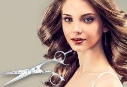 Красива визия и здрава коса! Подстригване, възстановяваща терапия с кератин и шоколад на Milkshаkе и оформяне със сешоар в Golden Angel! - Снимка