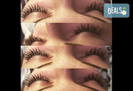За поразителен поглед! Поставяне на мигли по метода косъм по косъм в салон за красота Vintage Dolls - Снимка 10