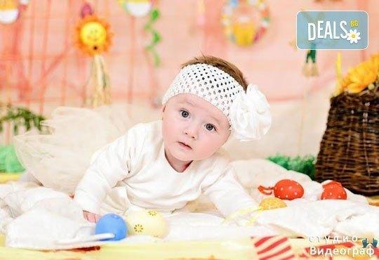 Професионална детска/семейна студийна фотосесия на пролетно-великденска тематика в студио Видеограф, Кюстендил! - Снимка 7