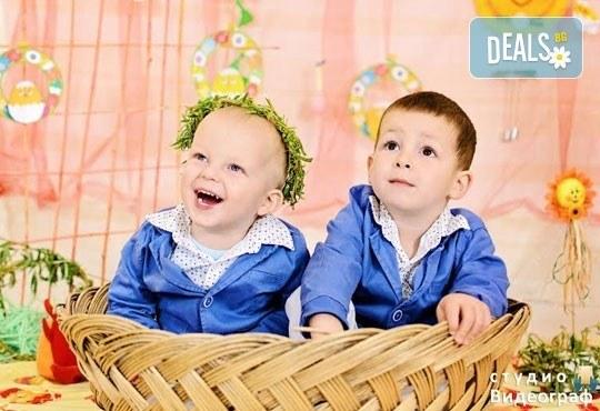Професионална детска/семейна студийна фотосесия на пролетно-великденска тематика в студио Видеограф, Кюстендил! - Снимка 2