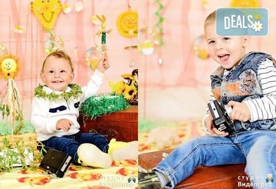 Професионална детска/семейна студийна фотосесия на пролетно-великденска тематика в студио Видеограф, Кюстендил! - Снимка 5