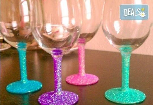 Поднесете питието подобаващо! Чаша за вино, шампанско или шот Блясък от Magic Print - Снимка 3