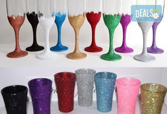 Поднесете питието подобаващо! Чаша за вино, шампанско или шот Блясък от Magic Print - Снимка 5
