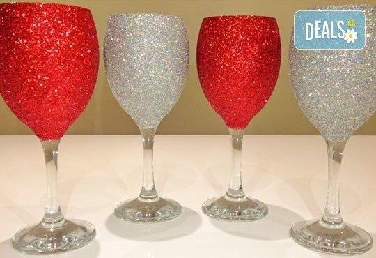 Поднесете питието подобаващо! Чаша за вино, шампанско или шот Блясък от Magic Print - Снимка 2