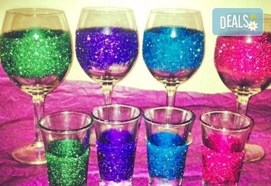 Поднесете питието подобаващо! Чаша за вино, шампанско или шот Блясък от Magic Print - Снимка 1