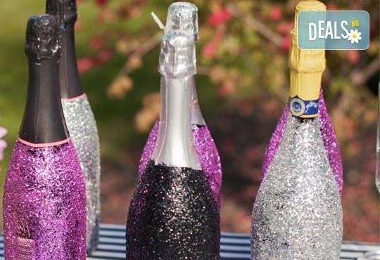 Добавете изисканост в специалния ден! Сватбена бутилка вино/шампанско и/или комплект 2 броя сватбени чаши от Magic Print! - Снимка 5