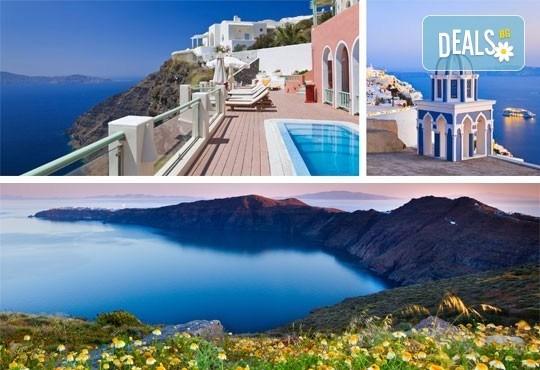 Екскурзия през май до о. Санторини, Гърция: 4 нощувки със закуски, транспорт и фериботни такси от Еко Тур! - Снимка 1
