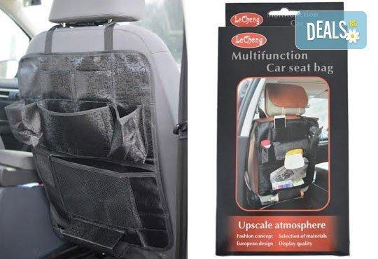 Внесете ред в хаоса във Вашата кола с органайзер за седалки за практично и удобно пътуване от Gift Express! - Снимка 2