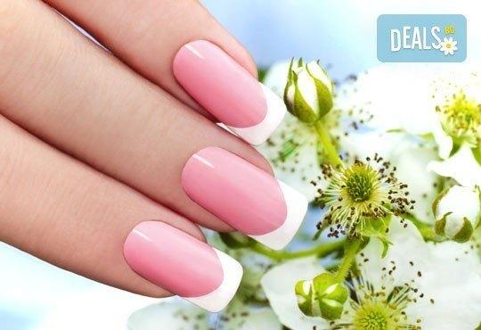 Изграждане на ноктопластика с гел Starlet и лакиране в цвят по избор или гел върху естествен нокът, 2 декорации и бонус в студио за красота Дани! - Снимка 1