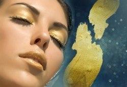 Лифтинг терапия на лице със злато, пилинг и RF със серум злато и маска злато от Wellness Center Ganesha Club! - Снимка