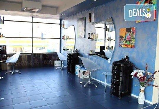 Боядисване с Ваша боя, възстановяваща маска на Morfose Professional, подстригване, изсушаване и оформяне на прическа в студио Elita! - Снимка 4