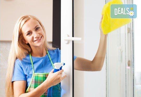 Кристално чисто! Почистване на прозорци в апартамент или офис от 50 до 110 кв.м. с безвредни биопрепарати от БГ 451! - Снимка 1