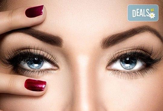 Перфектна празнична визия! Сгъстяване и удължаване на мигли косъм по косъм или поддръжка на мигли от център Мотив! - Снимка 1