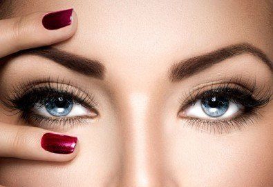 Перфектна празнична визия! Сгъстяване и удължаване на мигли косъм по косъм или поддръжка на мигли от център Мотив! - Снимка