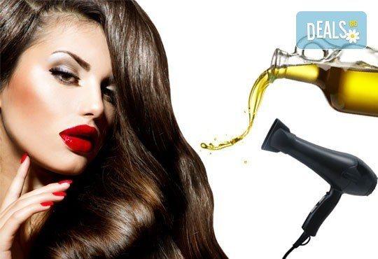 Боядисване с Ваша боя, подстригване, възстановяваща ампула, маска и оформяне на косата в салон Визия и стил, Пловдив - Снимка 2
