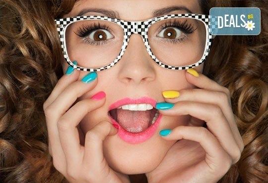 Добавете елегантност и цветни нотки в ръцете си - класически маникюр с гел лак Bluesky в салон Идиан! - Снимка 1
