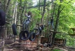 45-минутно забавление на въжена градина Паяжината, развлекателен център Бонго Бонго
