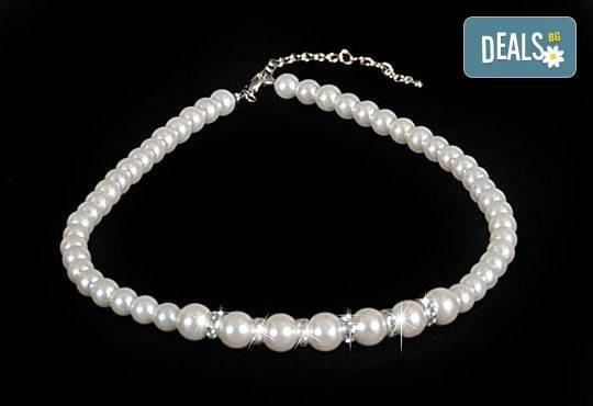 Изненадайте любимата с луксозен комплект обеци, гривна и колие с перли и висококачествен цирконий от Present For You! - Снимка 2