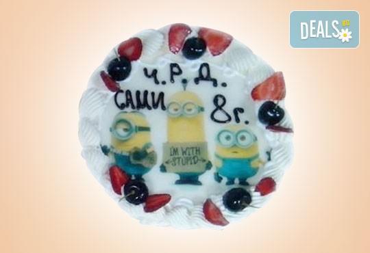 Кръгла детска торта 10 парчета с фотоснимка с любим герой или снимка по избор в Сладкарница Орхидея! - Снимка 5