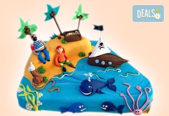 Голяма детска 3D торта с фигурална ръчно изработена декорация от Сладкарница Джорджо Джани - Снимка 8