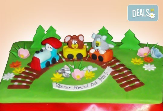 Сбъднати детски мечти! Детска 3D торта с фигурална ръчно изработена декорация от Сладкарница Джорджо Джани - Снимка 14
