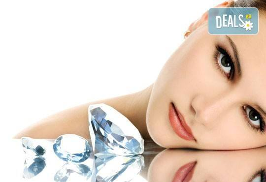 За свежестта на Вашата кожа! Диамантено микродермабразио, ултразвук, козметичен масаж и 50% отстъпка от фризьорски услуги от салон за красота Мелани! - Снимка 1