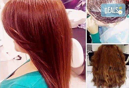 Блестяща и ослепителна коса! Полиране на коса, милк шейк терапия, масажно измиване и оформяне с прав сешоар в салон Nails Club в Младост 4! - Снимка 5