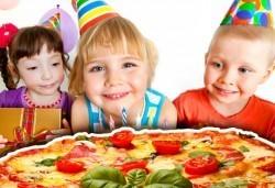 Парти за 2 ч. за 10 деца, голяма семейна пица, детски парти клуб Звездички