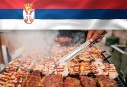 Голямо плато 880 г вкусна скара плюс шопска или зелена салата и порция пържени картофи със сирене от Сръбска скара Сан Марино! - Снимка