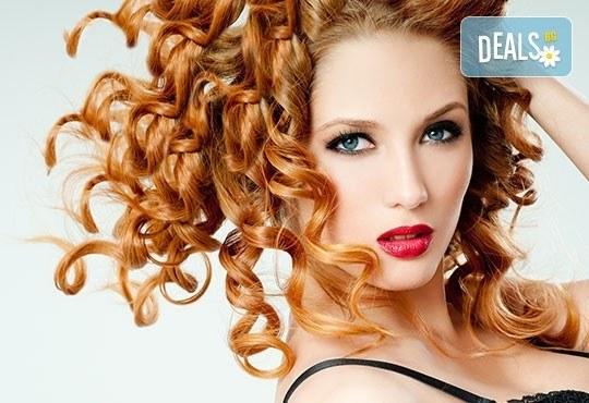 Трайно къдрене за всякакъв тип коса, професионално подстригване и оформяне с дифузер от студио Мария в Павлово! - Снимка 1