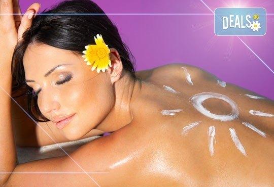 Шоколадов тен за всеки сезон с 30 или 60 мин. висок клас солариум в SPA център Senses Massage & Recreation - Снимка 1
