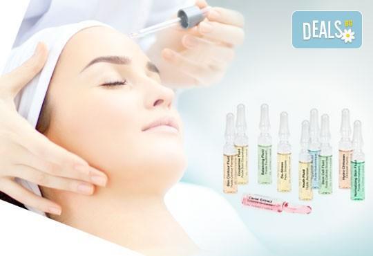 1 или 5 процедури масаж на лице, шия и деколте с висококачествени ампули на Janssen Germany по избор в студио Giro! - Снимка 1