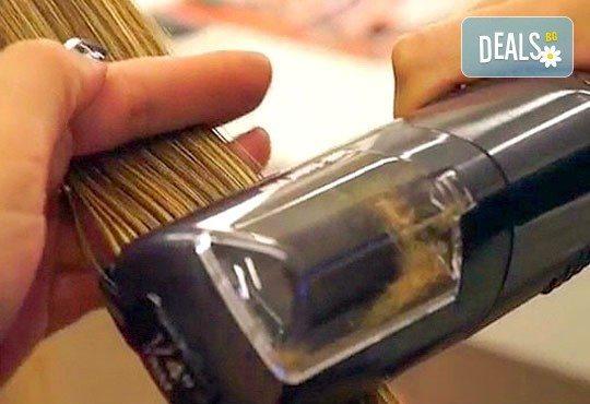Иновативен метод за отстраняване на цъфтежи - брюлаж със специализирана преса Directional Switch, измиване, маска за коса и изправяне в студио Шармант! - Снимка 2